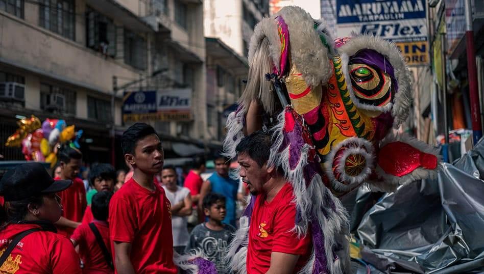 Bidondo festa del nuovo anno Manila