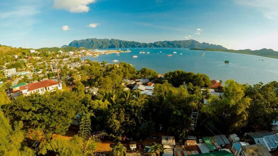 Vista-Aerea-della-Città-di-Coron-Filippine