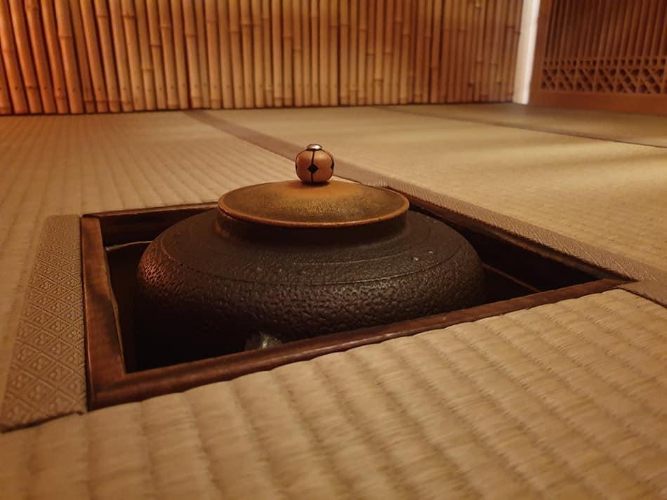 tatami nella stanza della cerimonia del te