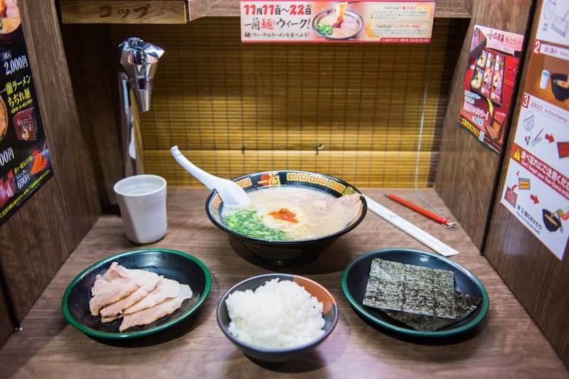 Ichiran Ramen resturant at Dotonbori Osaka Japan