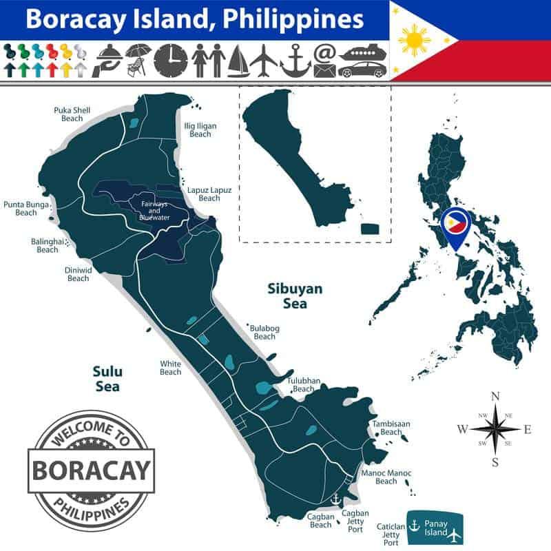Cartina di Boracay