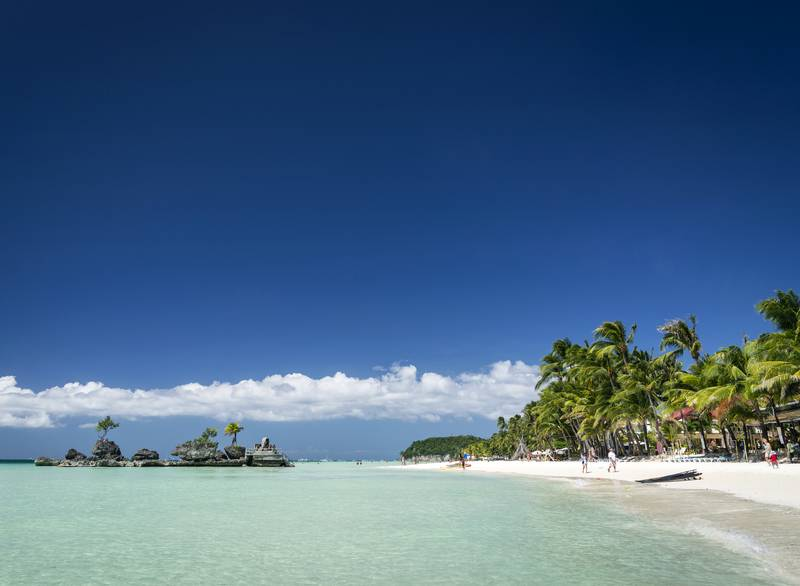 Spiaggia bianca Boracay Stazione 2