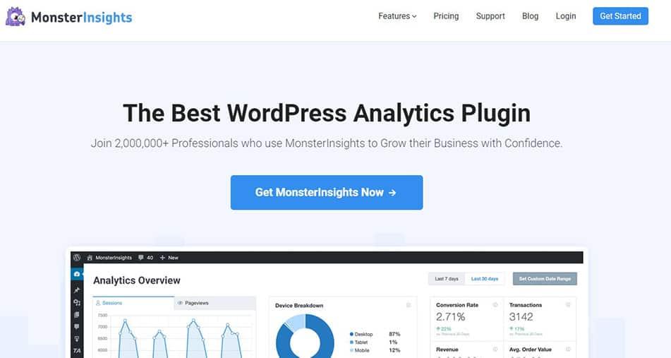Analytics by MonsterInsights