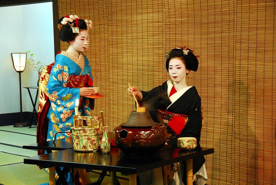 geishe e cerimonia del tè