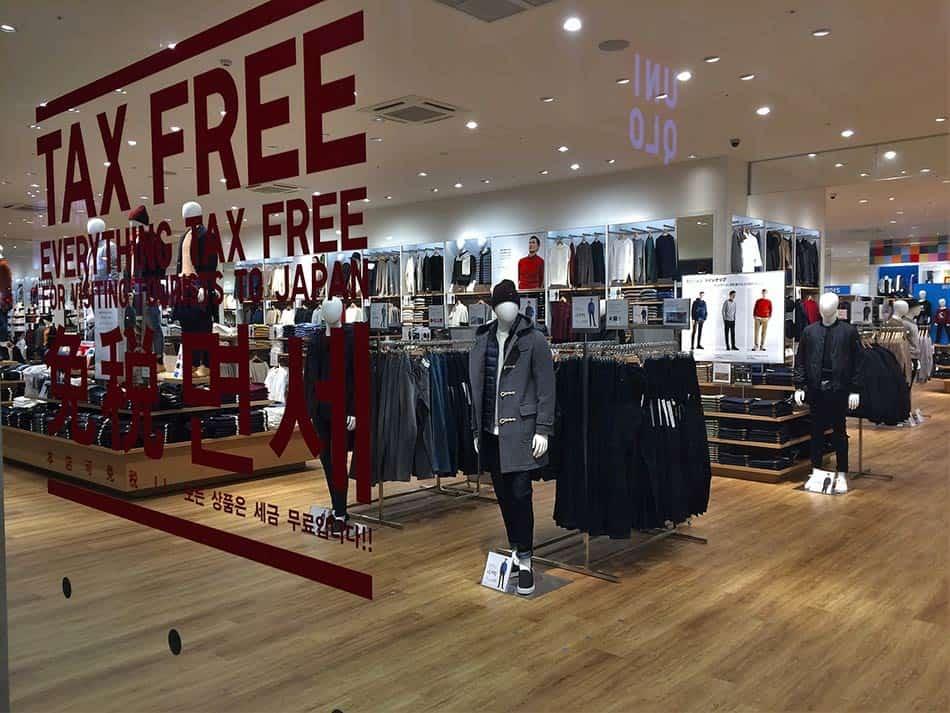 giappone negozi senza tasse