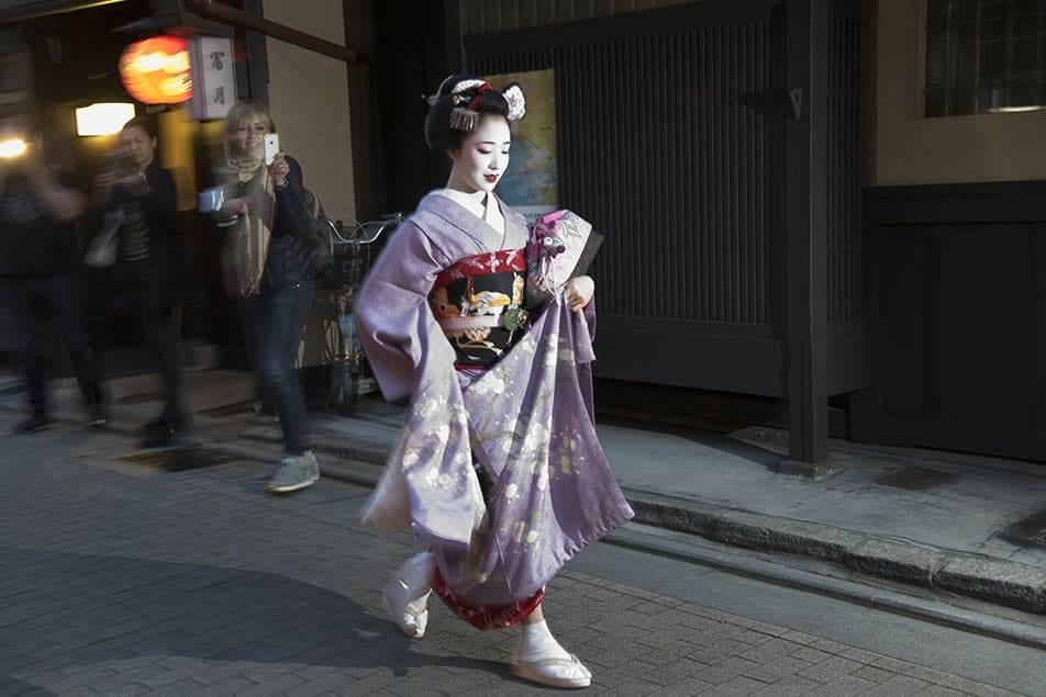 nel quartiere delle geishe di Kyoto di Gion