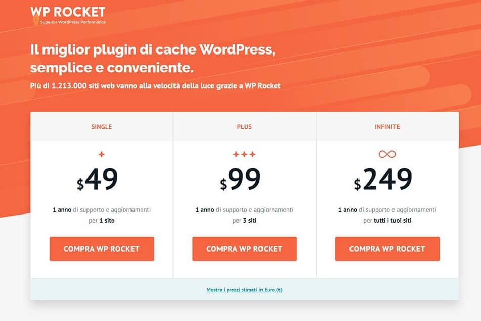 wordpress prezzi licenze