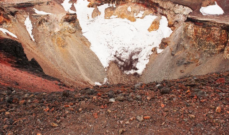 Cratere del monte Fuji