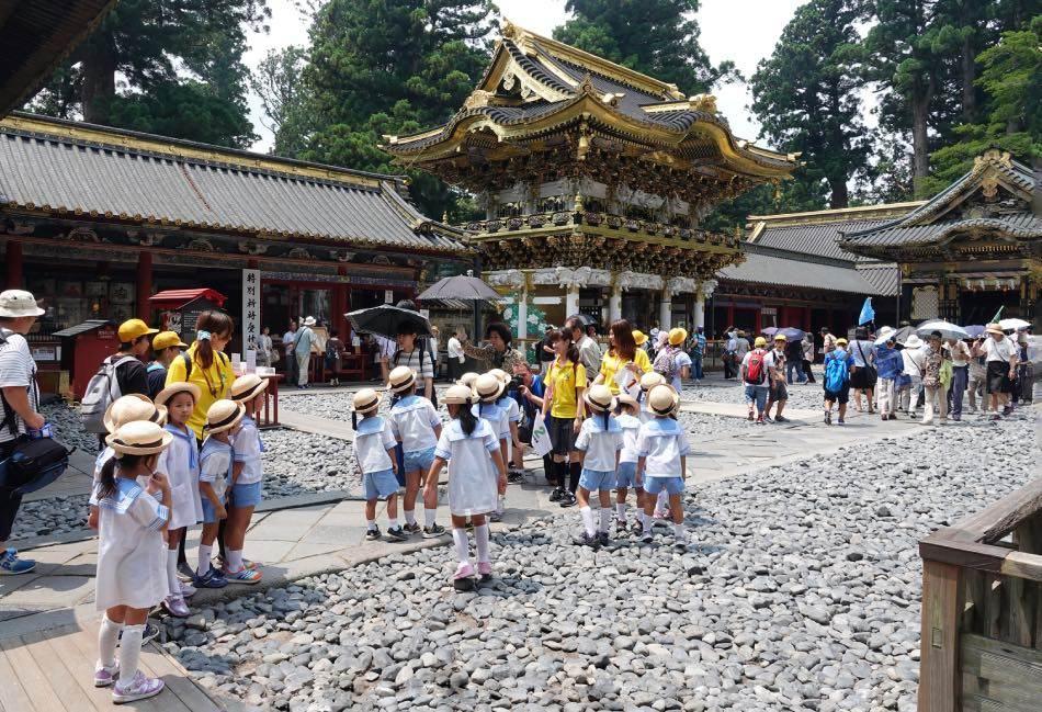 Bambini delle elementari Giappone in Gita