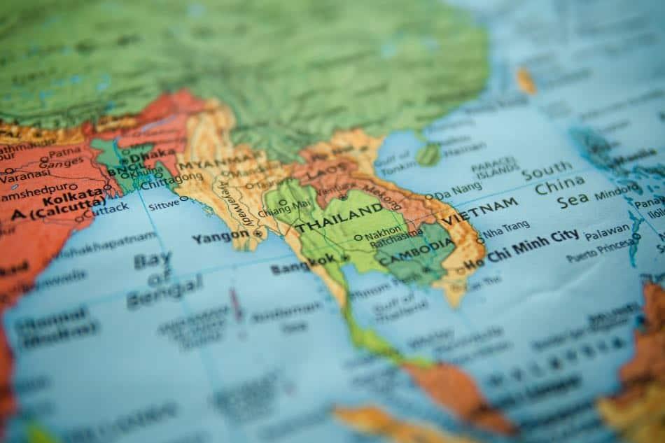 Cartina Thailandia