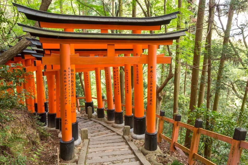 Tunnel di Torii Fushimi Inari-taisha