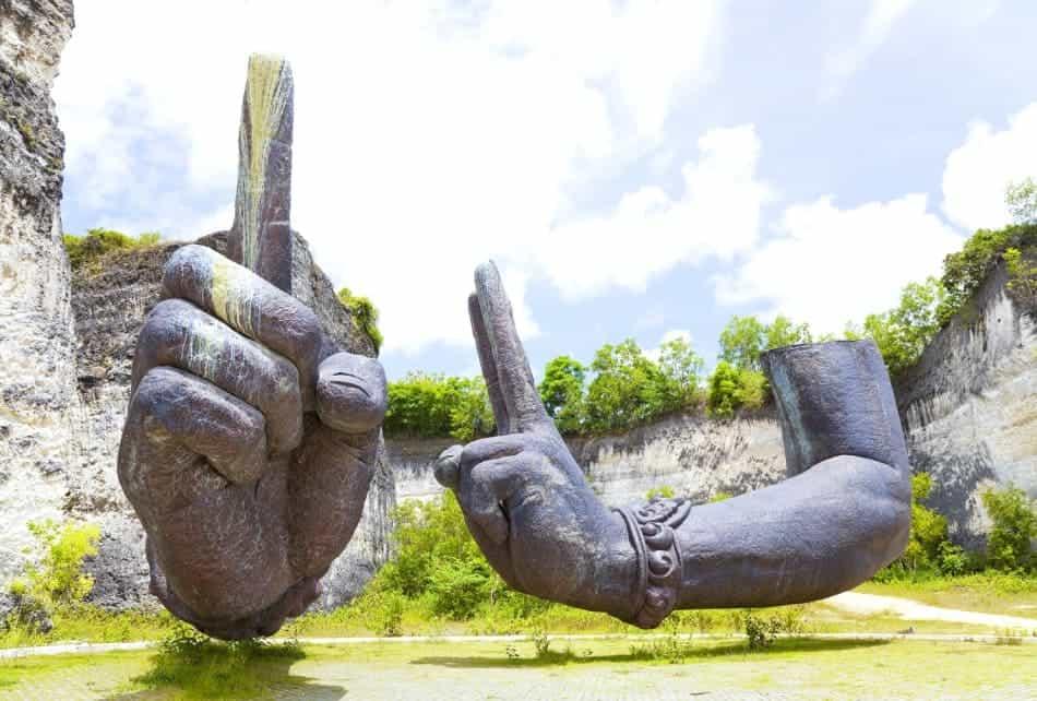 braccia giganti, Bali, Indonesia